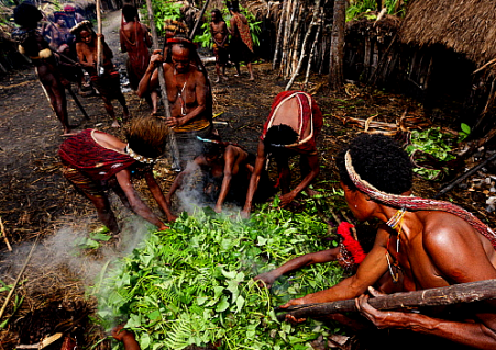 cooking ceremony papua