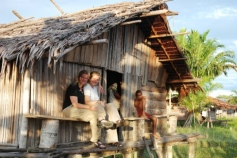 typical houses in papua