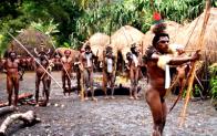 Mock War of dani tribe