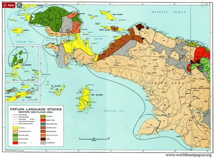 papua irian jaya map