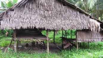 traditional houses of Mairasi tribe in kaimana