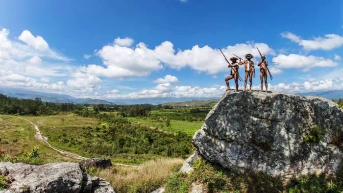 Dani tribesmen in papua