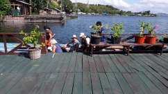 boat trip in lake sentani