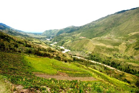 powerful of baliem river in papua