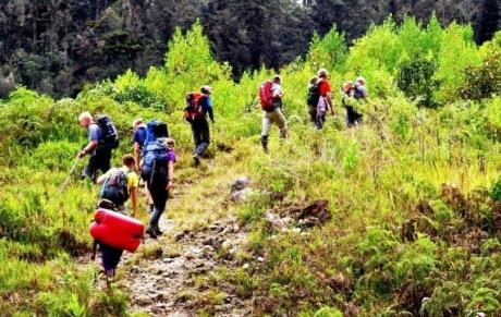 trekking to papua